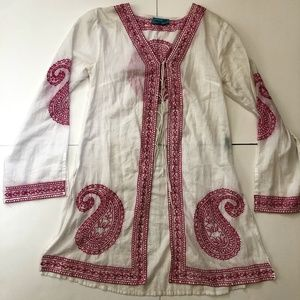Hand made embroided tunic-shirt/one of a kind